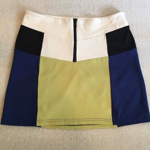 Urban Outfitters Color Block Mini Skirt Size M